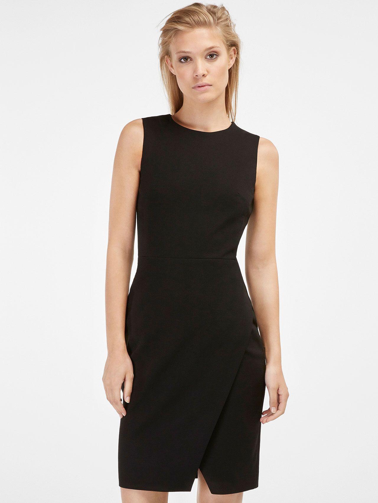 Vestido negro massimo dutti 2019