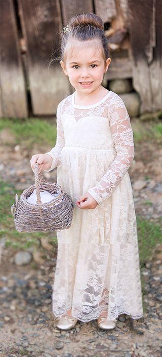 Ivory Lace Sweetheart Long Sleeve Dress - Kutie Tuties