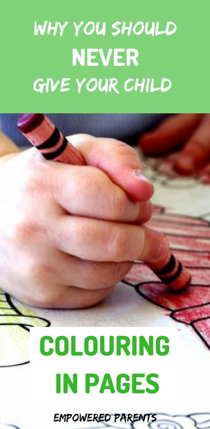 Why You Should Never Give Your Child Colouring In Pages