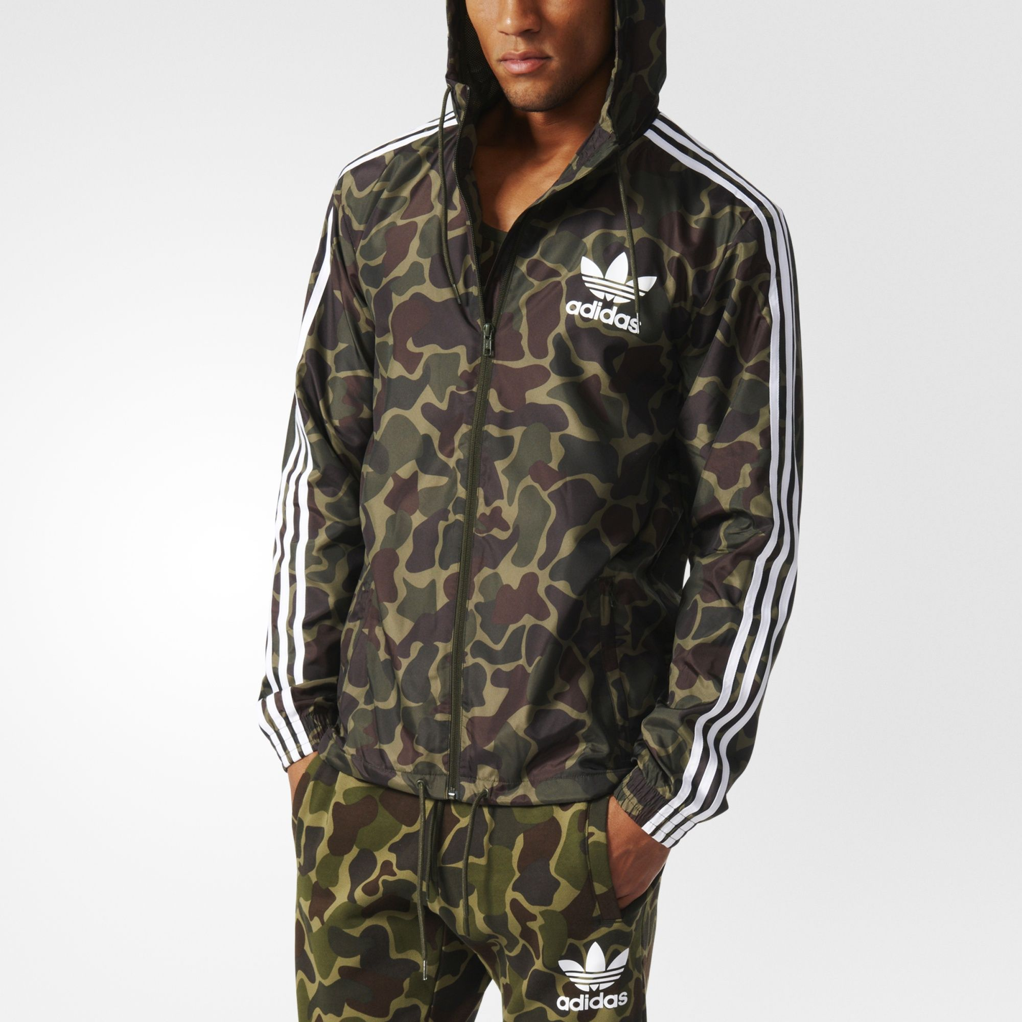 adidas originals camouflage windbreaker bj9997 multicolor. Black Bedroom Furniture Sets. Home Design Ideas