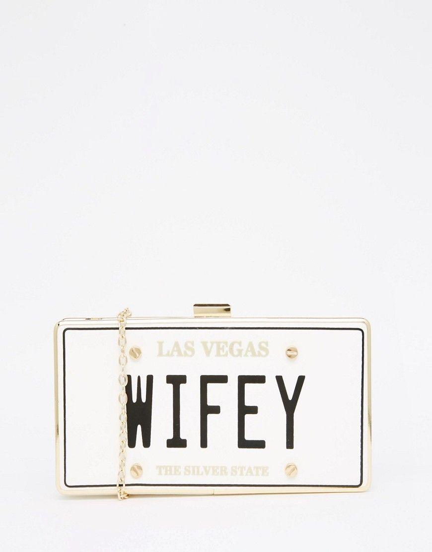 e483e41e809 ALDO Novelty Box Clutch With 'Wifey' Slogan in 2019 | Wedding Party ...