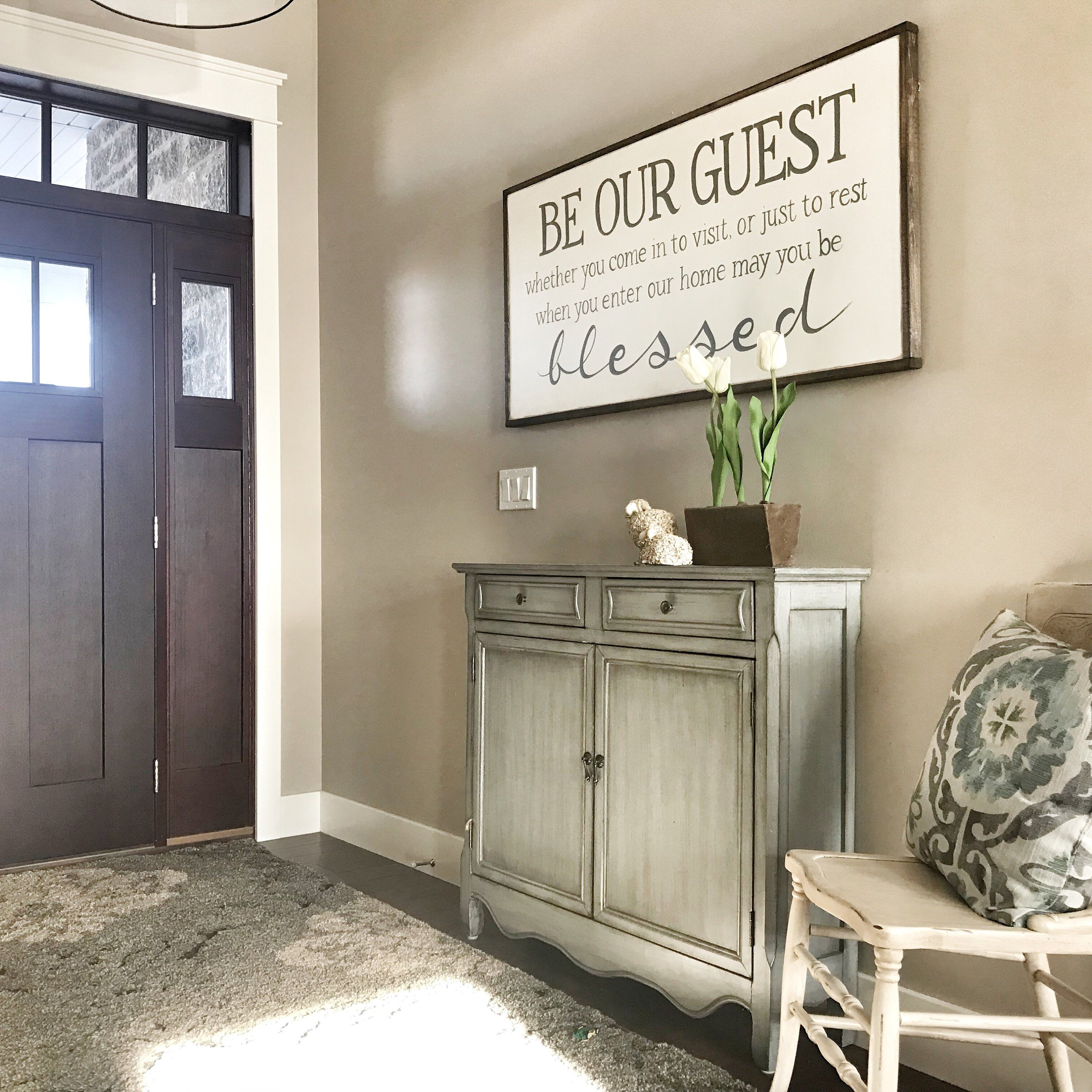 Be Our Guest Sign Farmhouse Decor Wall Decor Be Our Guest