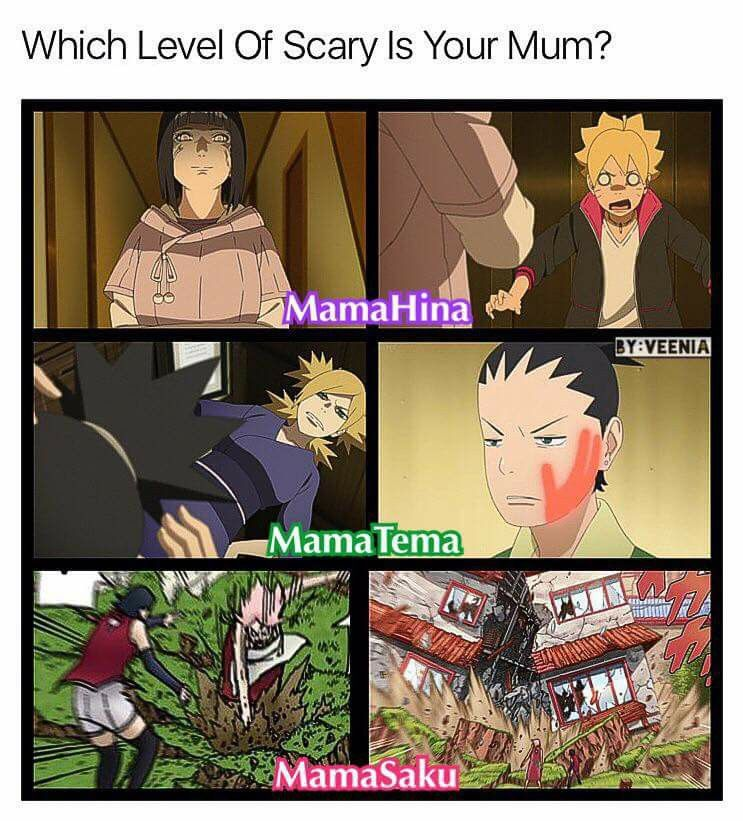 Haha :))) Mothers in Boruto - Hinata, Temari, Sakura ♥♥♥ Still Kushina is the best mommy ♥♥♥ Boruto, Shikadai and Sarada are having though times :)))
