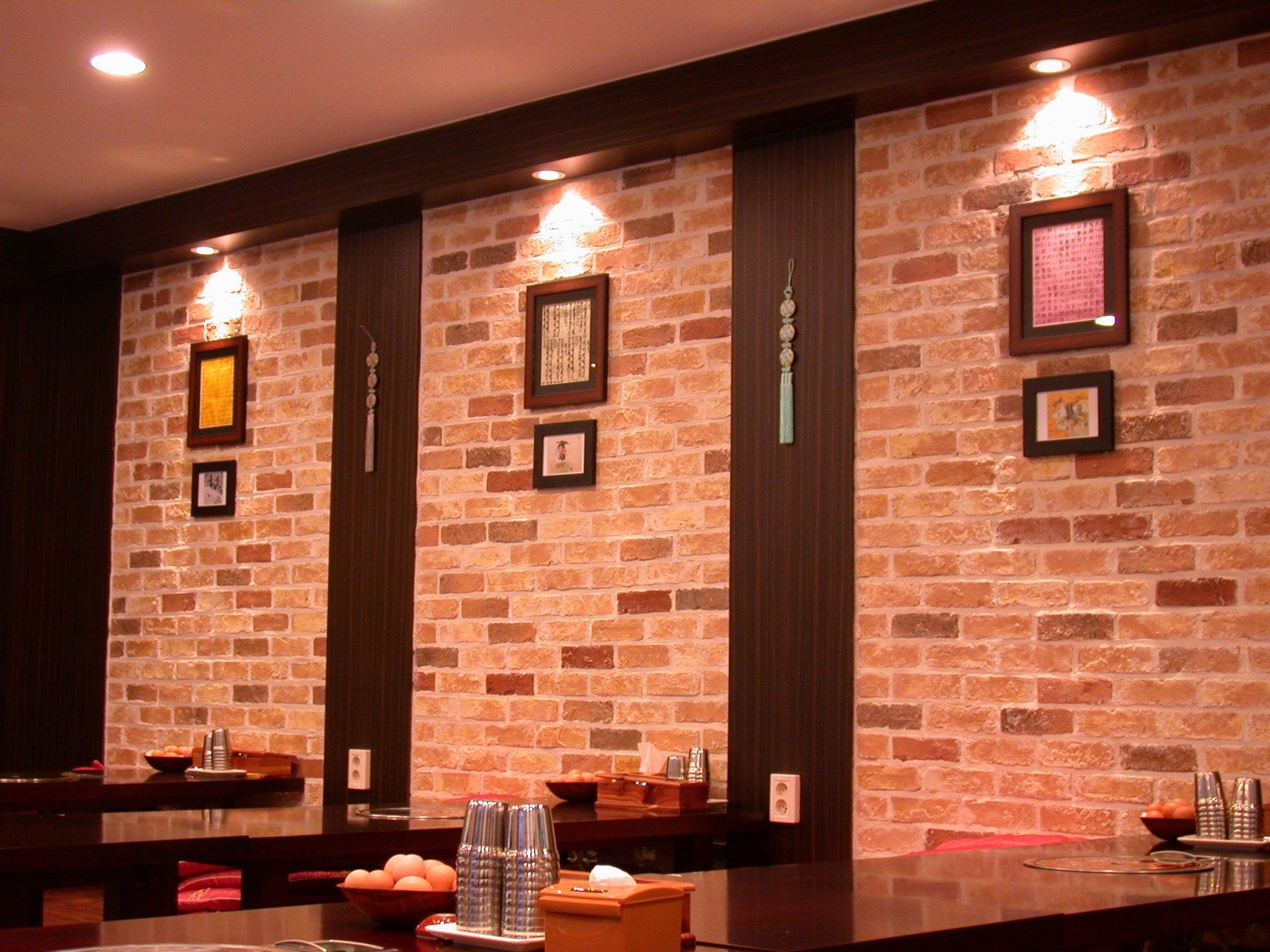 Brick Walls Decorating Ideas Exterior Interior Stunning Spotlight Ceiling  Lamp Decorate Wall Living Artdecors Brick Rustic Dining Areas Design Ideas  Stylish ...