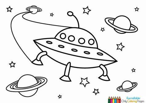 Ufo Malvorlage Basteln Pinterest Coloring Pages Ufo Und