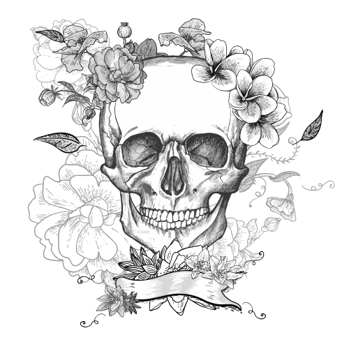 Flower Art Coloring Page | Sugar Skulls ~ Day of the Dead ...