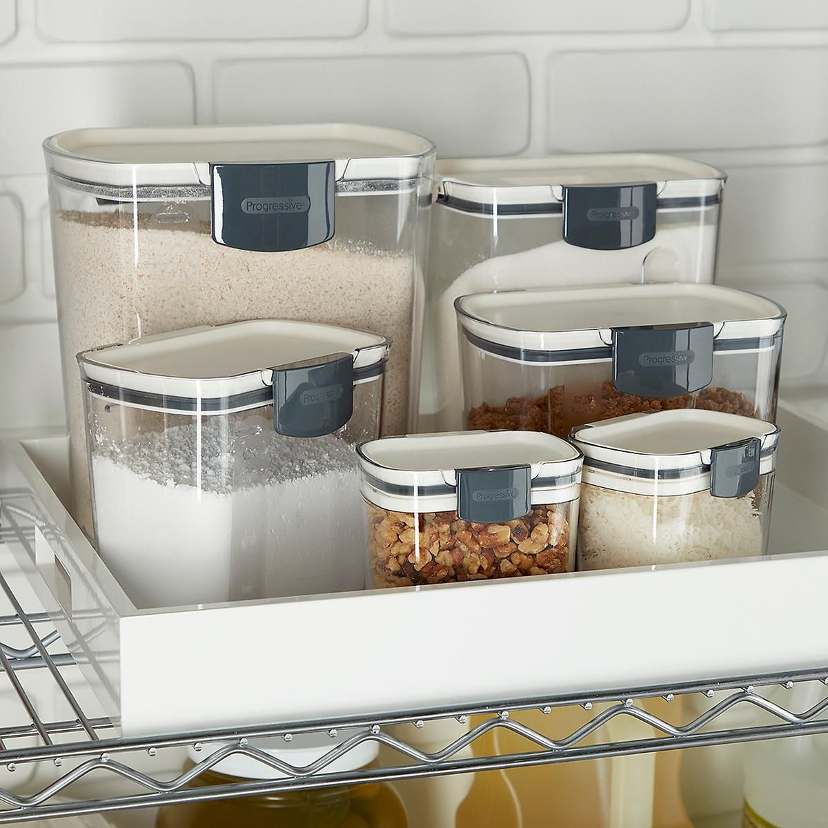 Prokeeper Baker S Storage Set Of 6 Clever Kitchen Storage Storage Sets Flour Storage Container