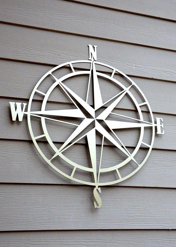 Nautical Compass Rose Metal Wall Art Compass Wall Decor Outdoor