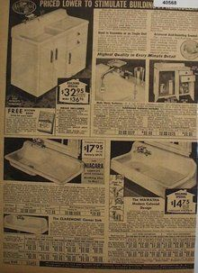 sears kitchen sinks with cabinet 1938 ad | kitchen remodel ideas