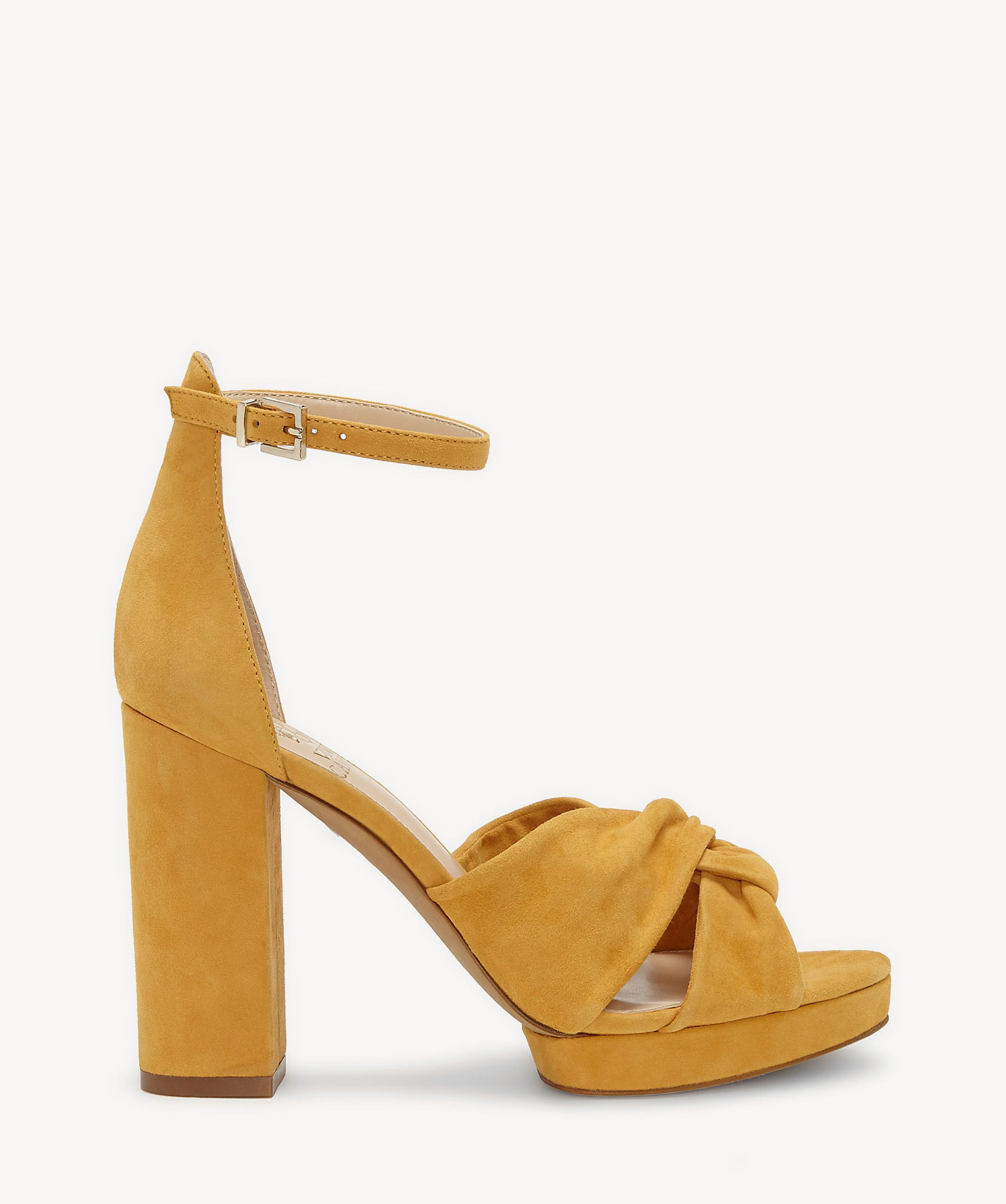 7b07c3e5ecf Vince Camuto Corlesta Knotted Sandals Mustard Yellow