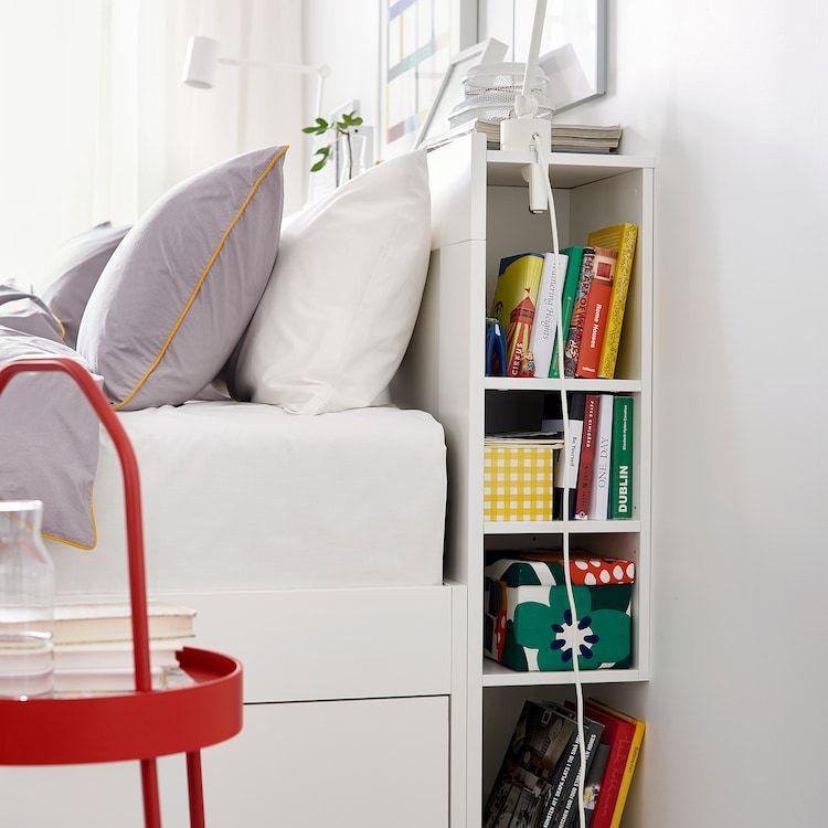Ikea Brimnes Headboard With Storage Compartment Bed Frame With Storage White Headboard Brimnes Bed
