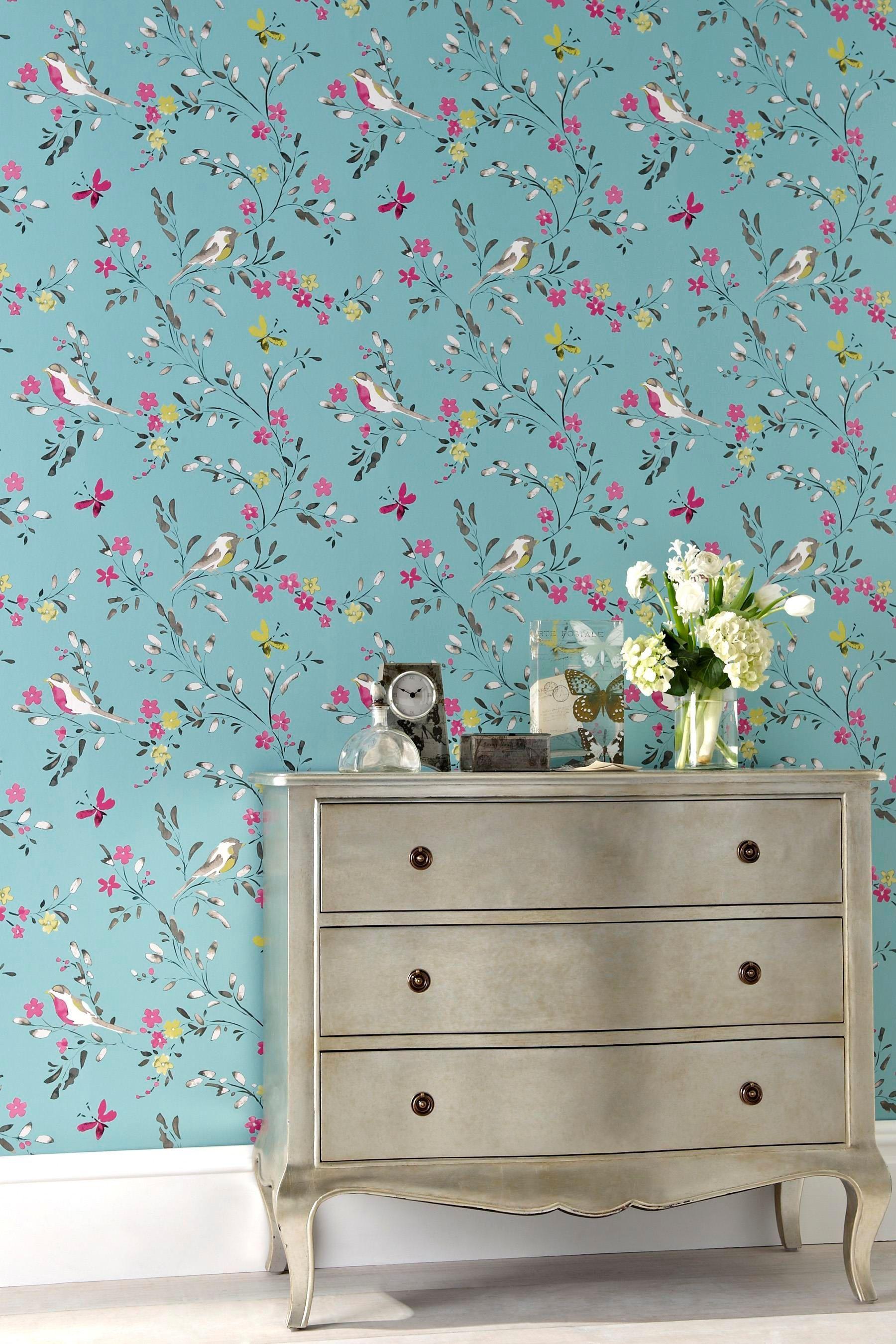 Best Buy Teal Birds Wallpaper From The Next Uk Online Shop 640 x 480