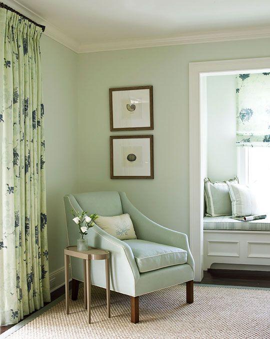 Benjamin moore woodland white serene space - Fantastic color schemes for serene bedrooms ...
