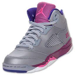 68506fba460c Girls  Preschool Air Jordan Retro 5 Basketball Shoes