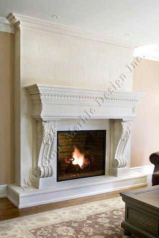 Limestone Fireplace Mantle In Beverly Hills California Limestone