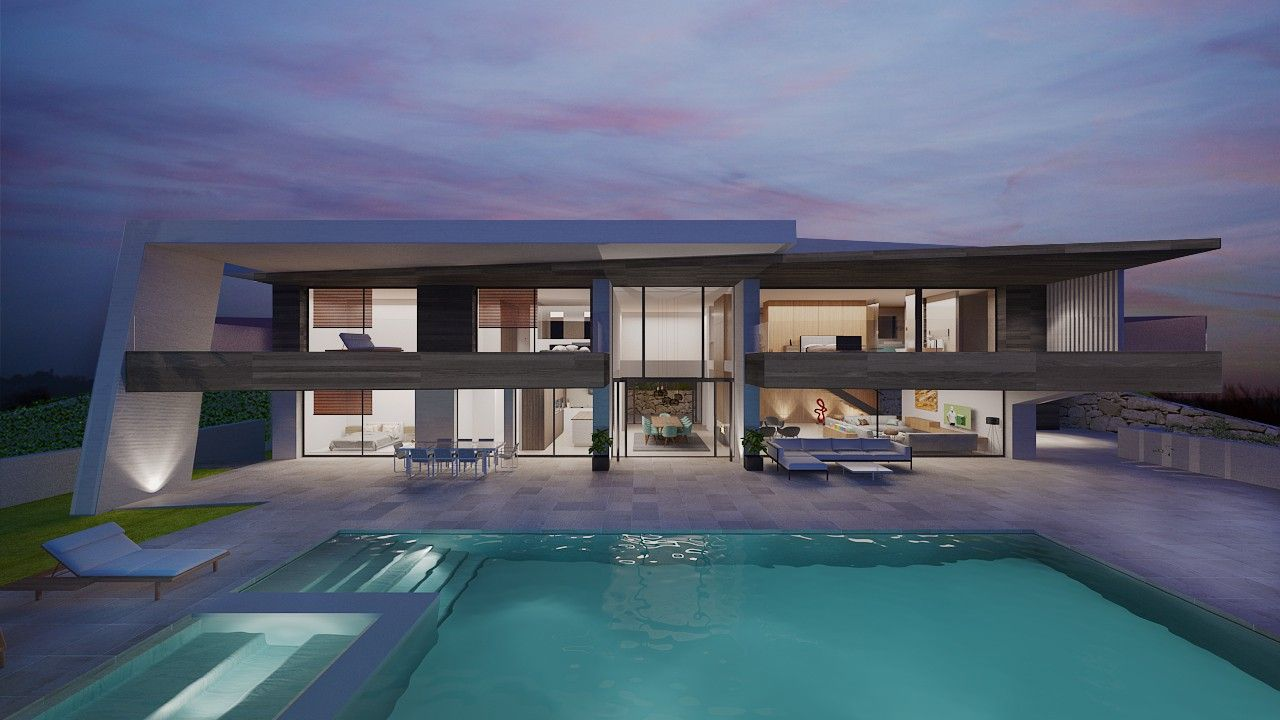 Modern villa for sale marbella pools 4 pinterest for Villa moderne