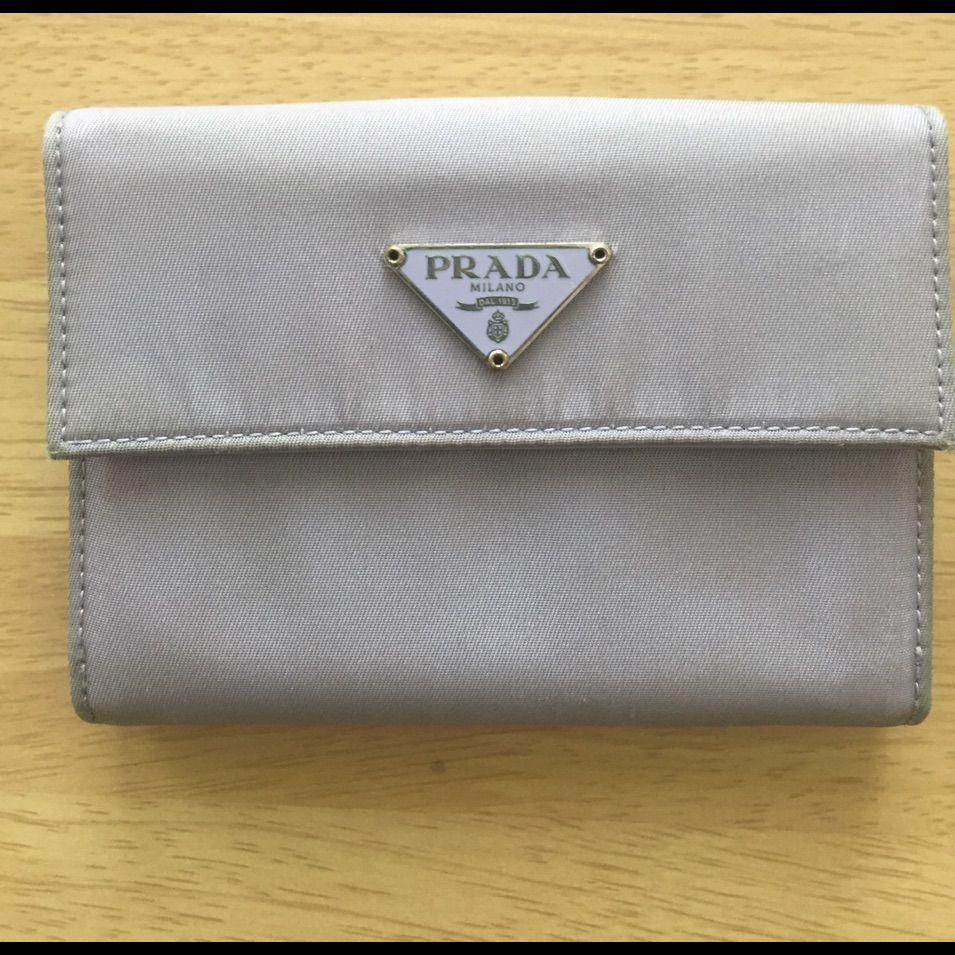 Prada Milano Lavender Purple Nylon Wallet