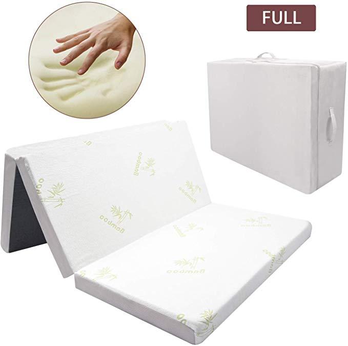 Amazon Com Hardson Folding Mattress Tri Fold Memory Foam