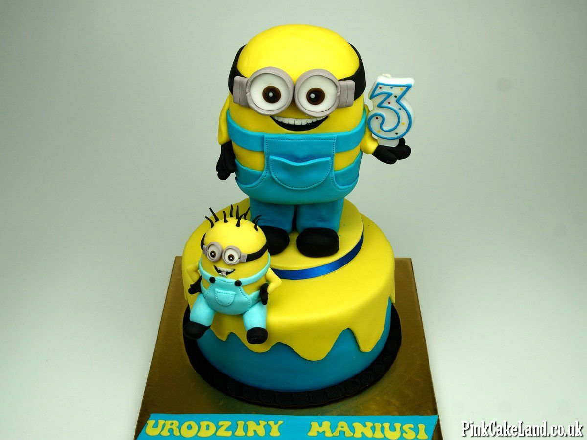 Minion Birthday Cake London Cakes Httppinkcakeland