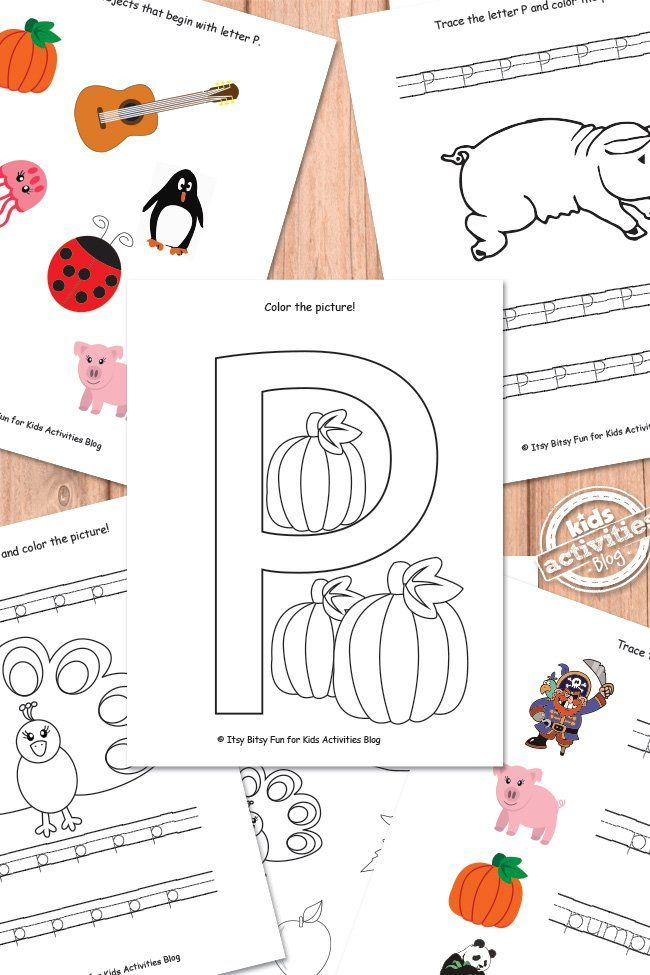 LETTER P WORKSHEETS FREE KIDS PRINTABLE | Pinterest