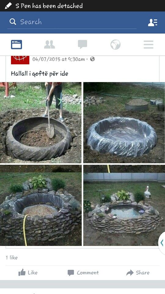 Tractor Tyre pond