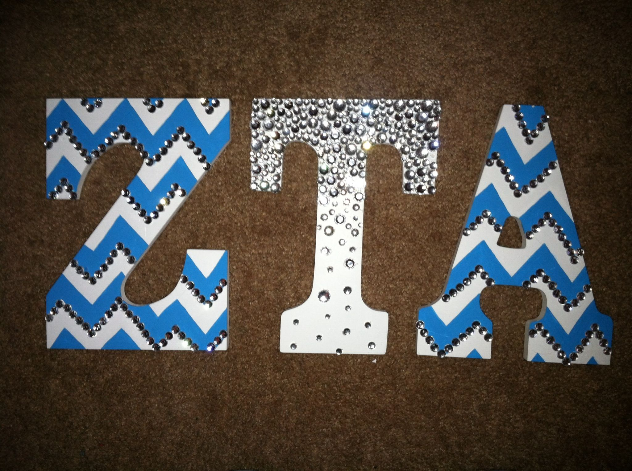 Wooden letters for crafts - For My Little Crafts Sorority Letters