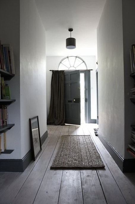 Dark Skirting Boards And Natural Wood Floors Beautiful Small Hallways Wood Doors Interior Modern Country Style