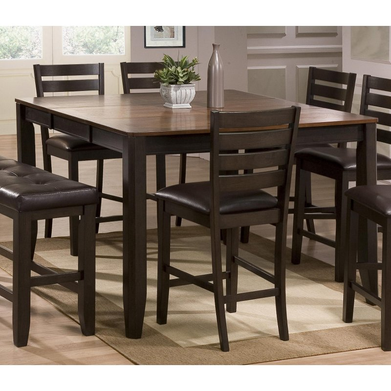 Brown Counter Height Dining Table Elliott With Images Counter Height Dining Table Counter Height Dining Sets Dining Room Table Chairs
