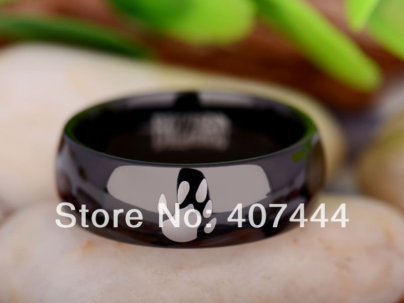 Free Shipping YGK JEWELRY Hot Sales 8MM Black Dome World of Warcraft