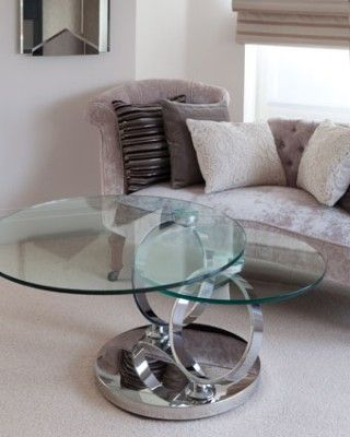 Round Glass Coffee Table - Magic Coffee, Round glass coffee - contemporary tables for living