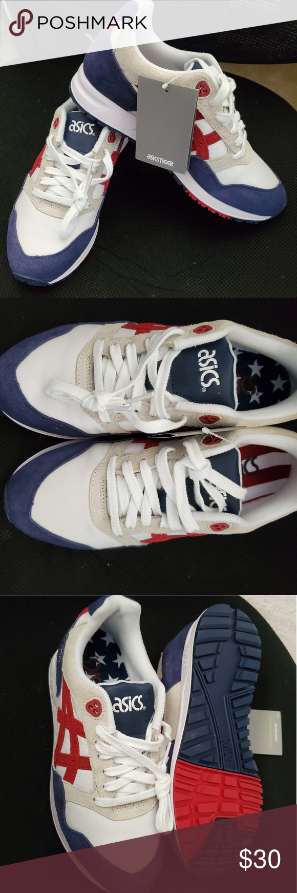 ASICS shoes size 6 MENS Stars and