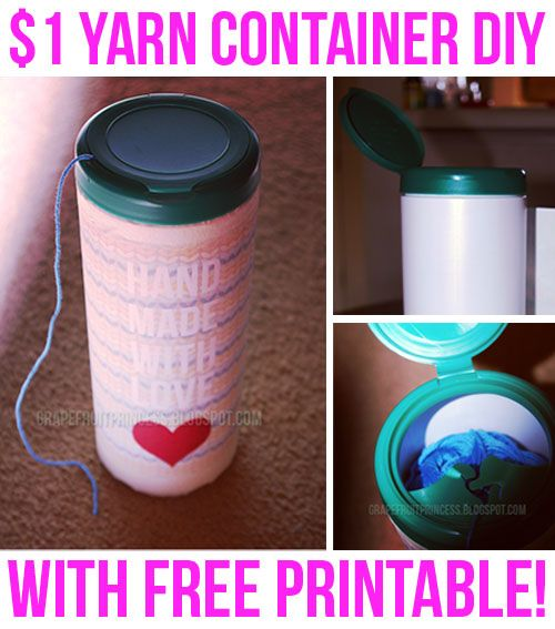 $1 DIY // Yarn Container (Cat Proof) #diyyarnholder