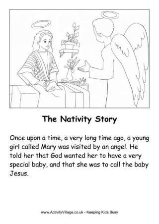 The Nativity Story Printable With Images The Nativity Story