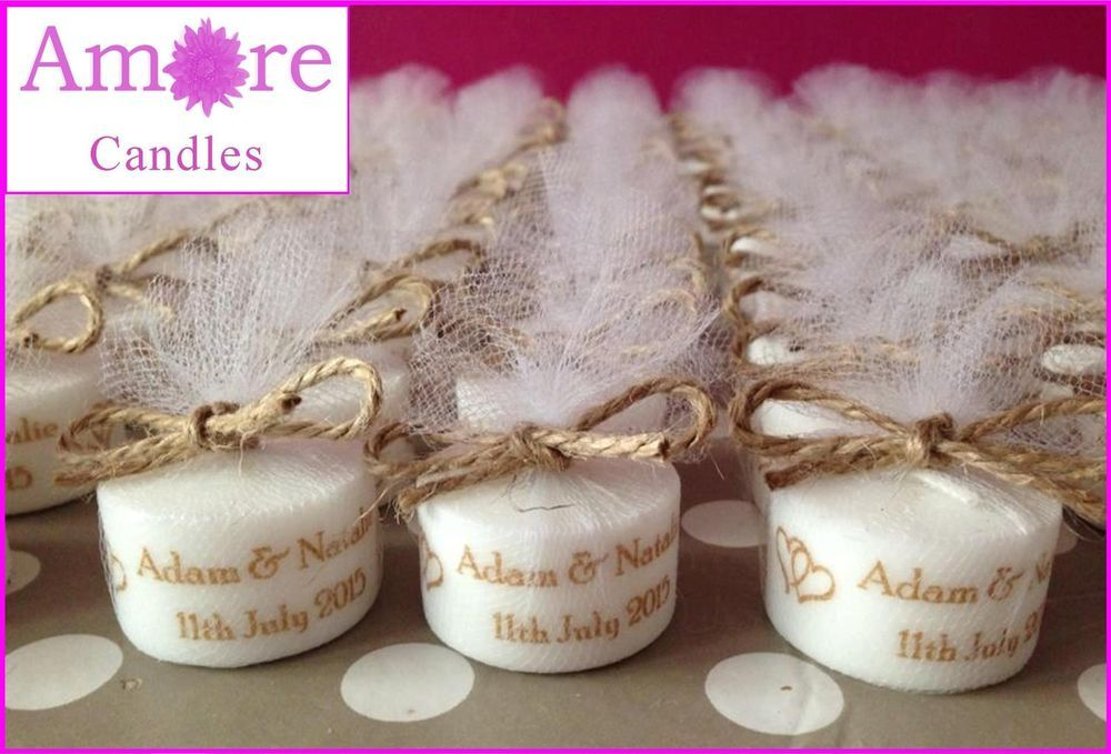 Details About Personalised Vintage Style Tealight Candles Wedding Favours Set Of 10 Candle Wedding Favors Wedding Candles Tea Light Candles Wedding