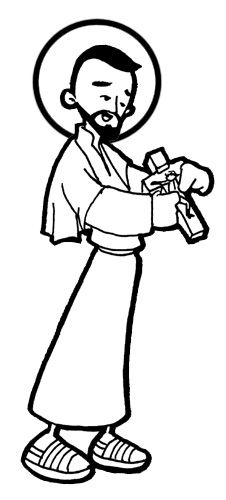 Another Saint Francis Xavier Catholic coloring page. Feast