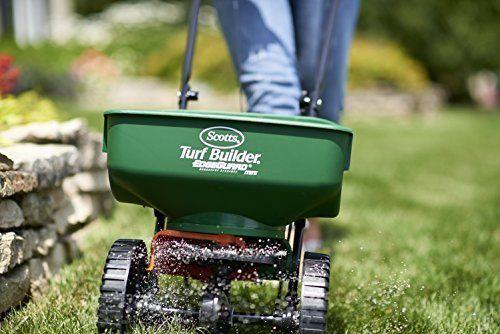 Lawn Garden Spreader Broadcast Turf Builder Seeder Fertilizer Soil Yard Grass