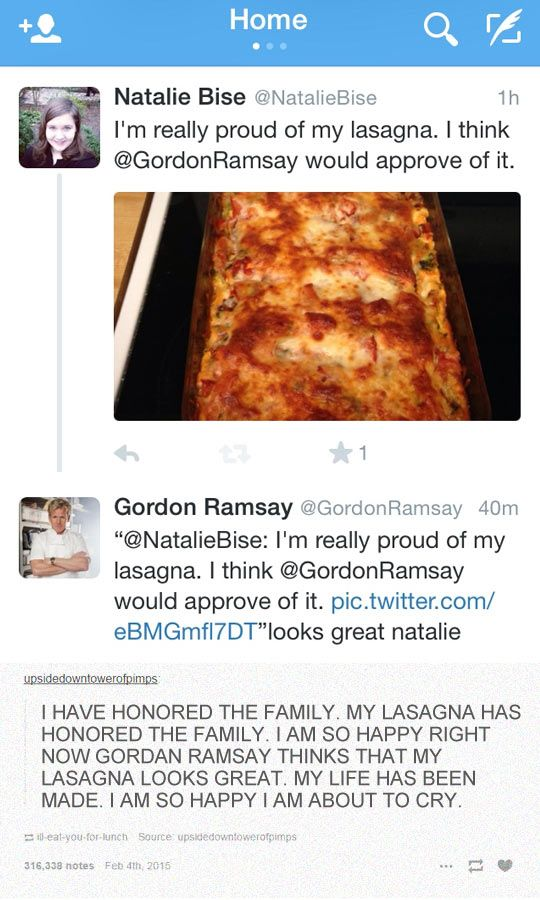 The Lasagna Gods Have Smiled Upon This Person Funny Gordon Ramsey Laugh