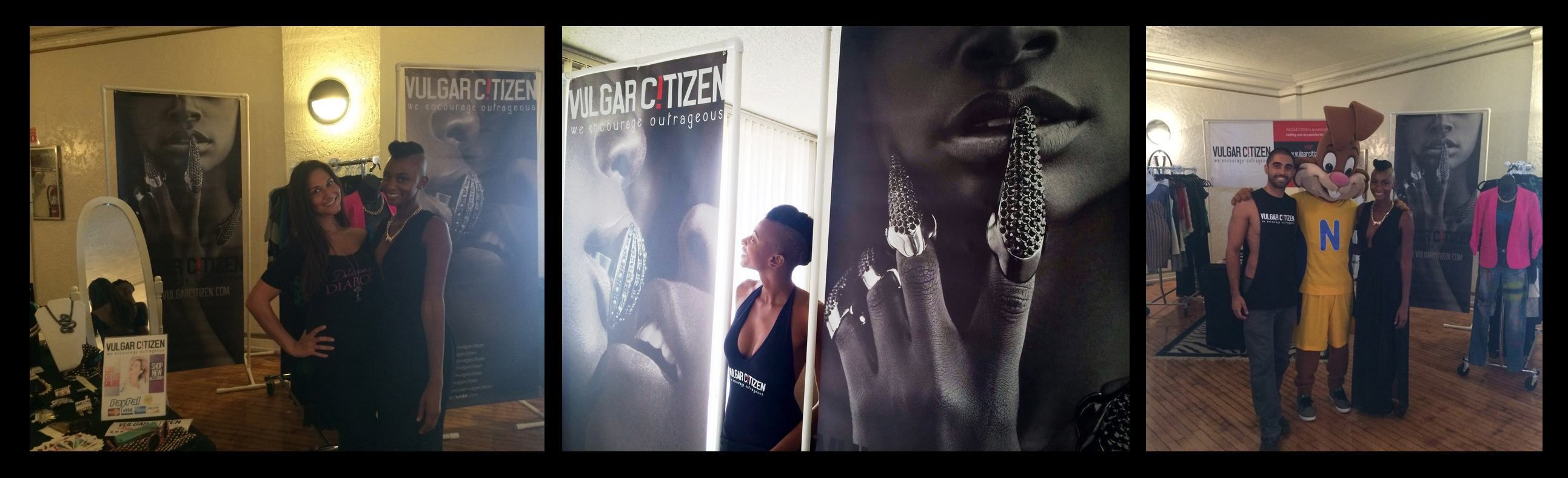 "Vulgar Citizen uses eSigns.com! Check out their awesome review, ""Special thanks again to eSigns.com for printing these amazing 7' ft tall VULGAR CITIZEN banners! We got so many compliments during our most recent pop up boutique at the #oddmarketla event!"" -Vel J."