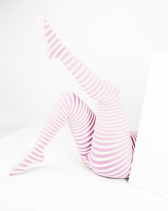 Womens White Plus Sized Striped Tights Style 1204 We Love Colors Striped Tights Pink And White Stripes Tights