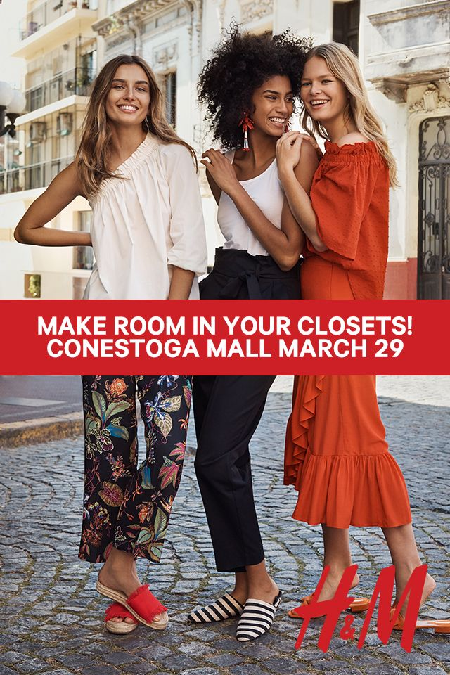 H&M opens at Conestoga Mall in Waterloo on March 29 at 10am. The first 100 in will line get up to $300 off their purchase. *Restrictions apply #HMLOVESWATERLOO