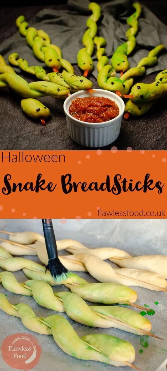Snake Breadsticks - Halloween Party Food