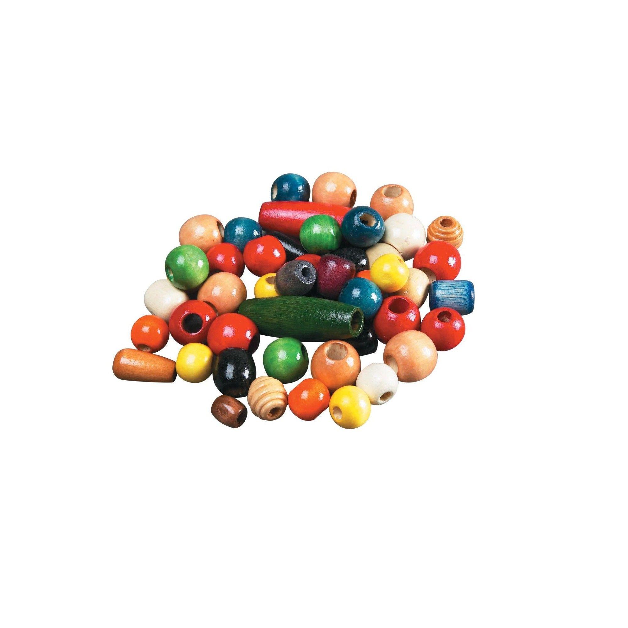 School Smart Pony Beads Bulk, 1/2 To 1 Inch, Assorted