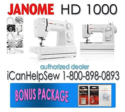 Quick and Easy Gift Ideas from the USA  Janome HD1000 Heavy-Duty Sewing Machine with 14 Built-In Stitches http://welikedthis.com/janome-hd1000-heavy-duty-sewing-machine-with-14-built-in-stitches #gifts #giftideas #welikedthisusa