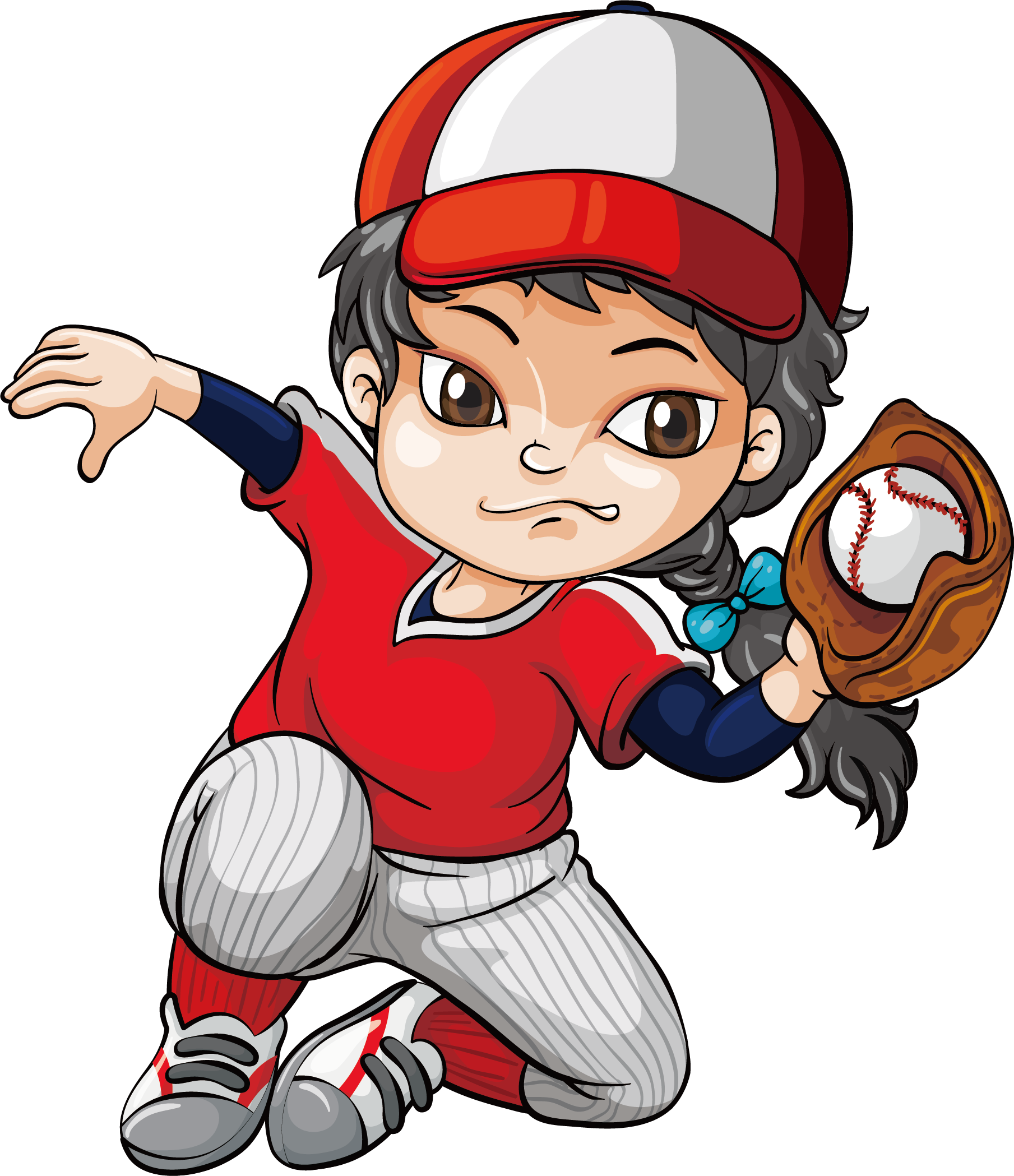 Kids Baseball Clipart 2 Kids Baseball Baseball Banner Cartoon People