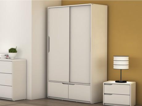 Kleiderschrank Lucile 2 Türen 2 Schubladen Weiß In 2018