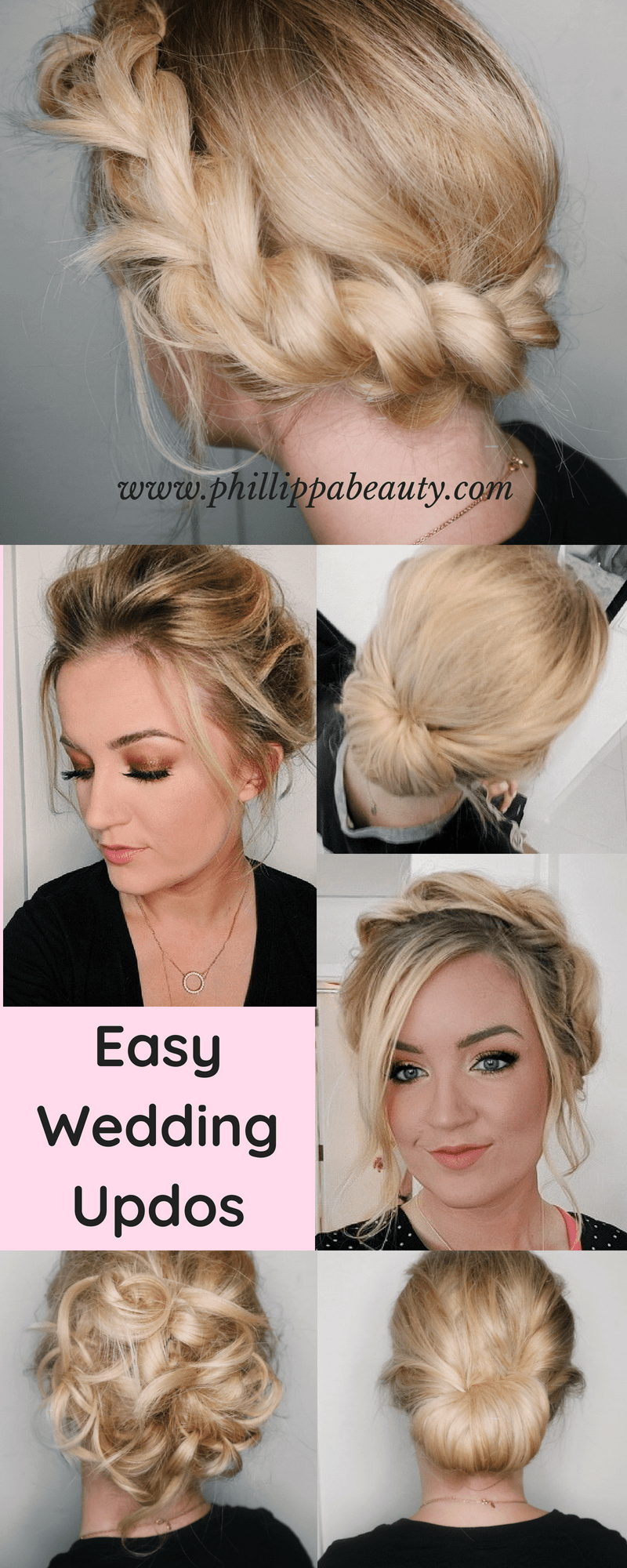 Easy Wedding Updos Diy Bridesmaid Hairstyles If You Re Looking For An Easy Wedding Updo Bridesmaid Hair Tutorial Bridesmaid Hair Medium Length Hair Styles