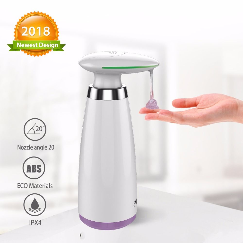 340ml Automatic Soap Dispenser Hand Free Touchless Sanitizer Bathroom Dispenser Smart Sensor Liquid Automatic Soap Dispenser Soap Dispenser Bathroom Dispensers