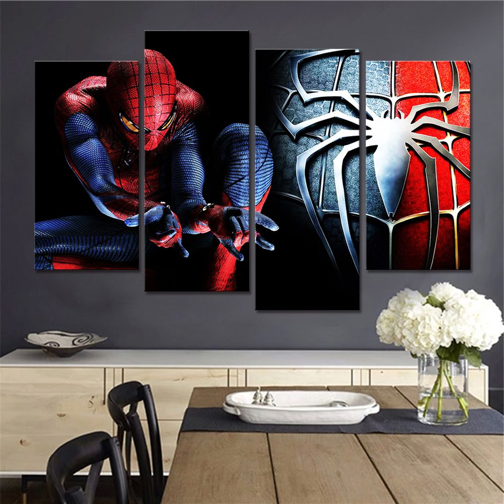 No Framed Free Shipping Spiderman Wall Decor Living Room Pictures