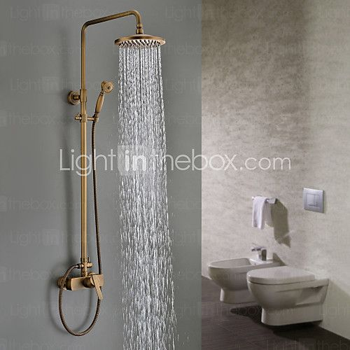Sprinkle Shower Faucets Traditional With Antique Brass Single