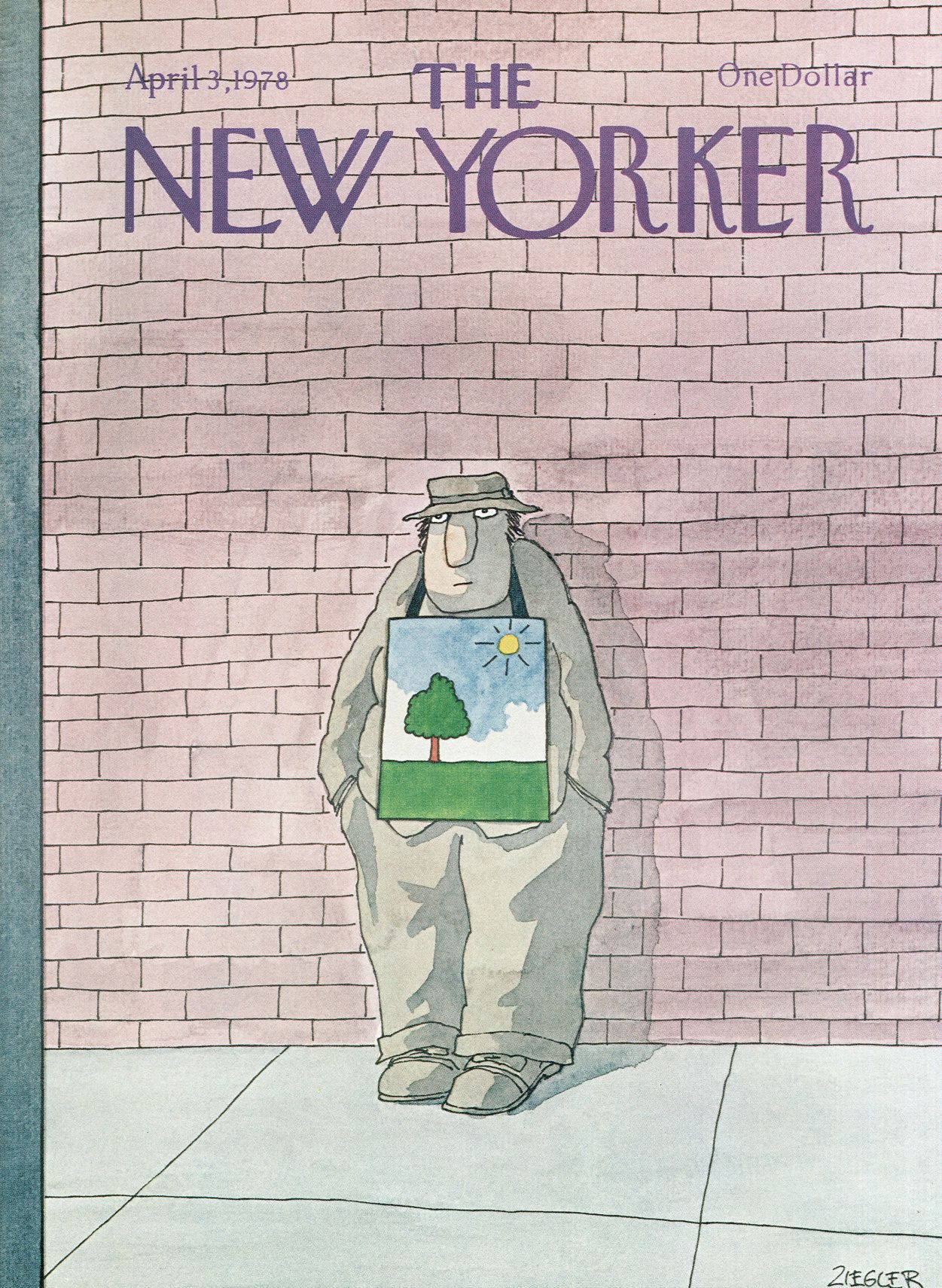 The New Yorker - Monday, April 3, 1978 - Issue # 2772 - Vol. 54 - N° 7 - Cover by : Jack Ziegler